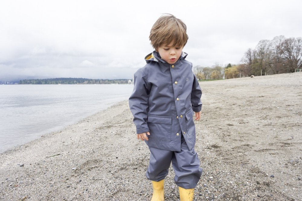 Theo in FaireChild RainCoat and Pants