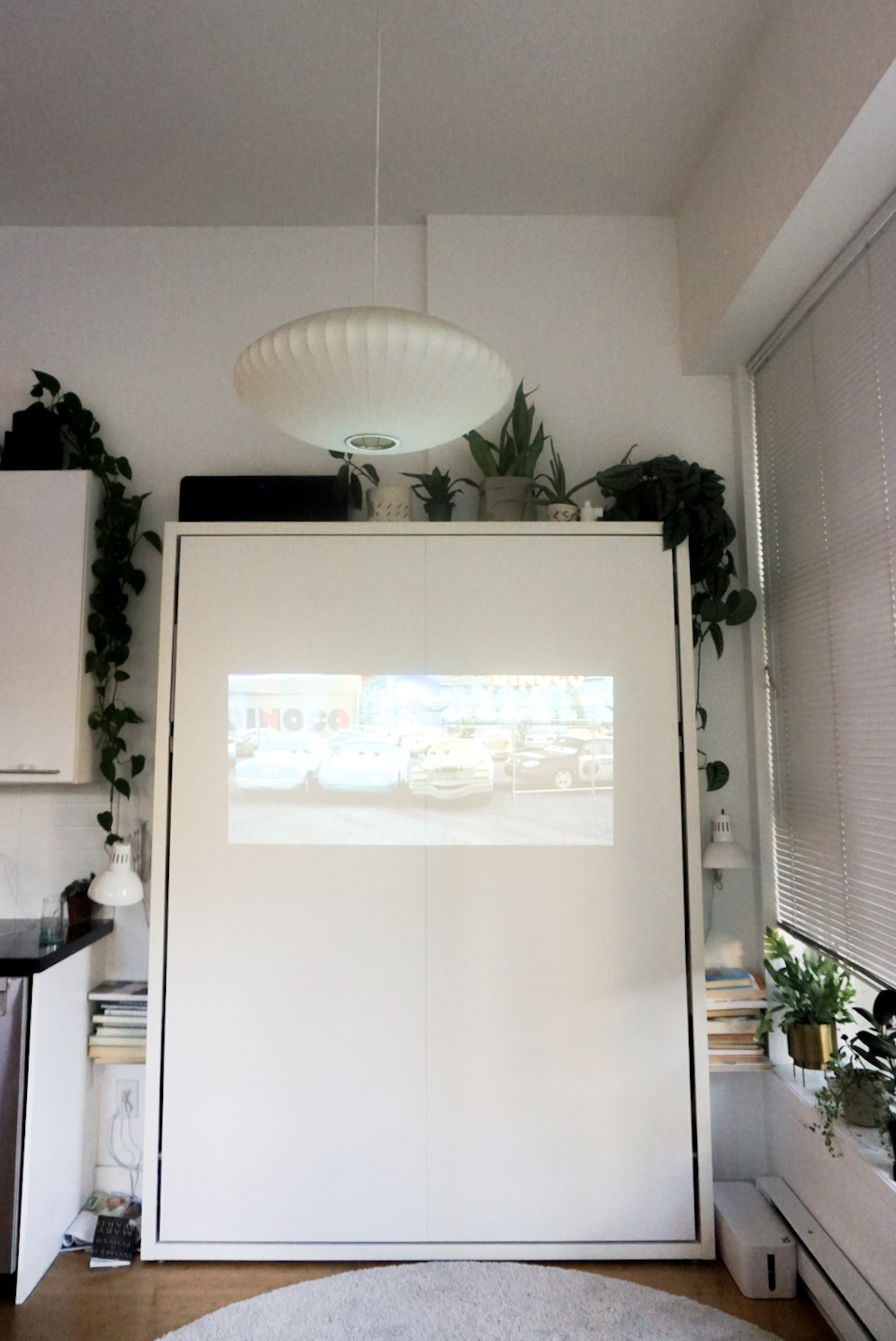The projector in the day