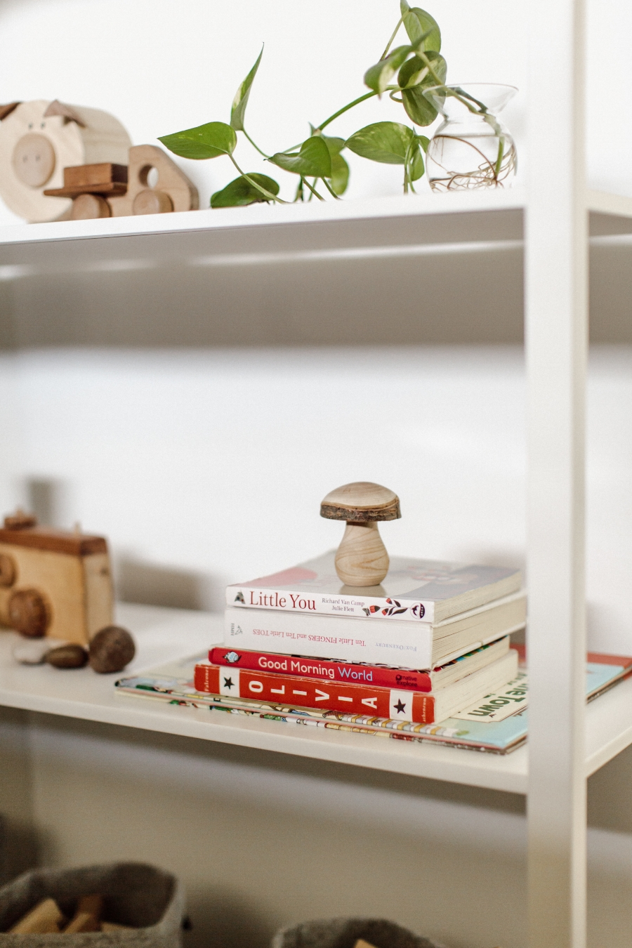 our toy shelf by  Brit Gill