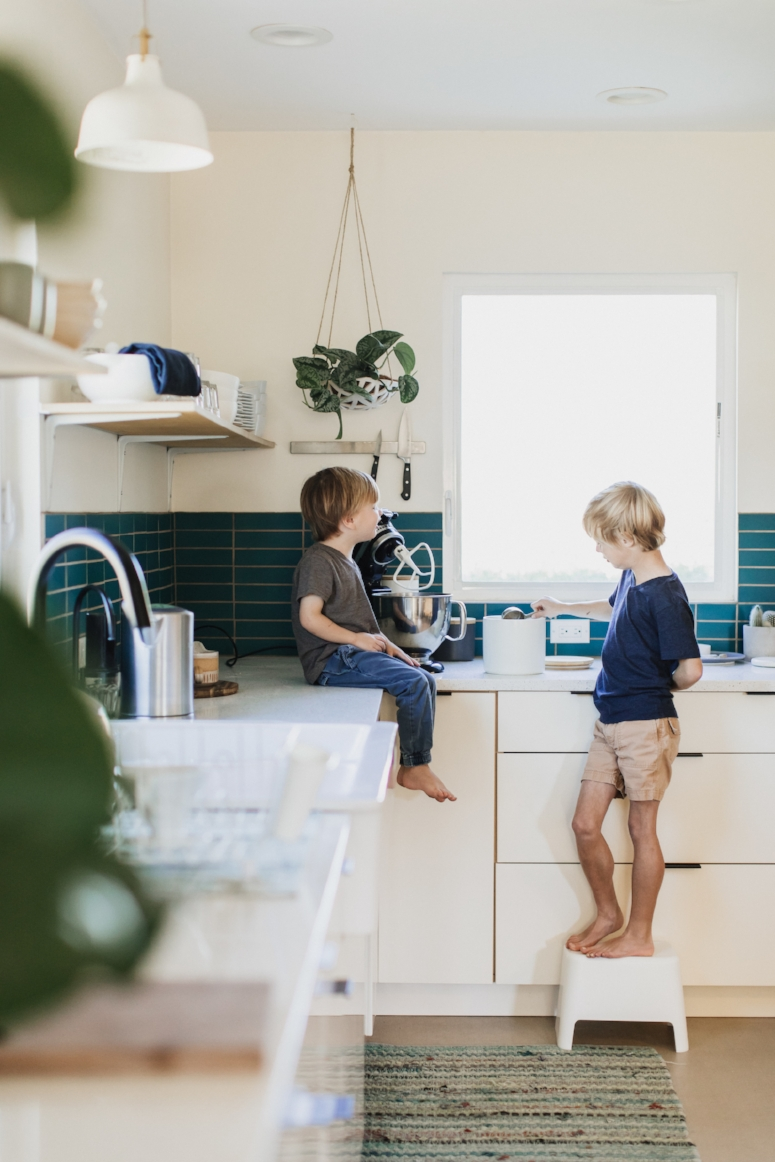 At Home in the Kitchen with  @adutchlife . Photo:  @stacykeck  | 600sqft Home Tour