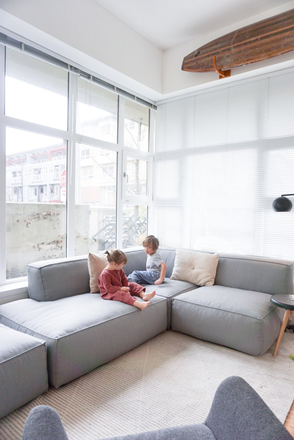 Performance Testers, on the new Modular Solae Sofa in our 600 square foot apartment.