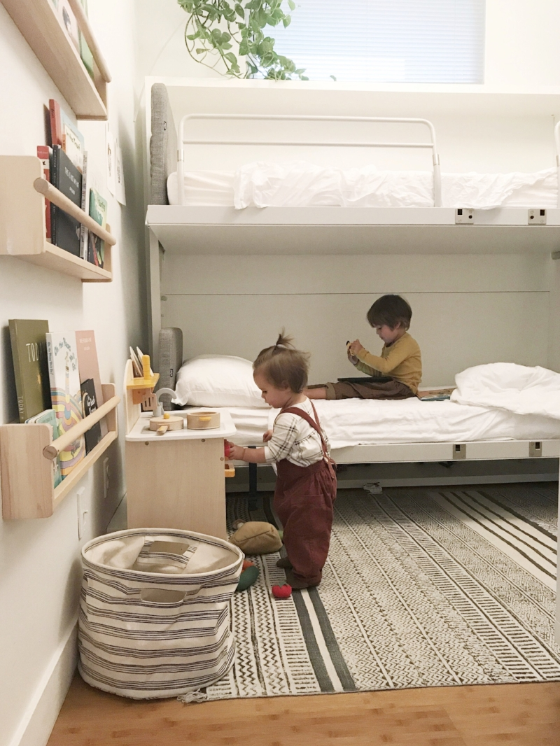 Picture of: Wall Bunk Beds The First Few Months 600sqftandababy