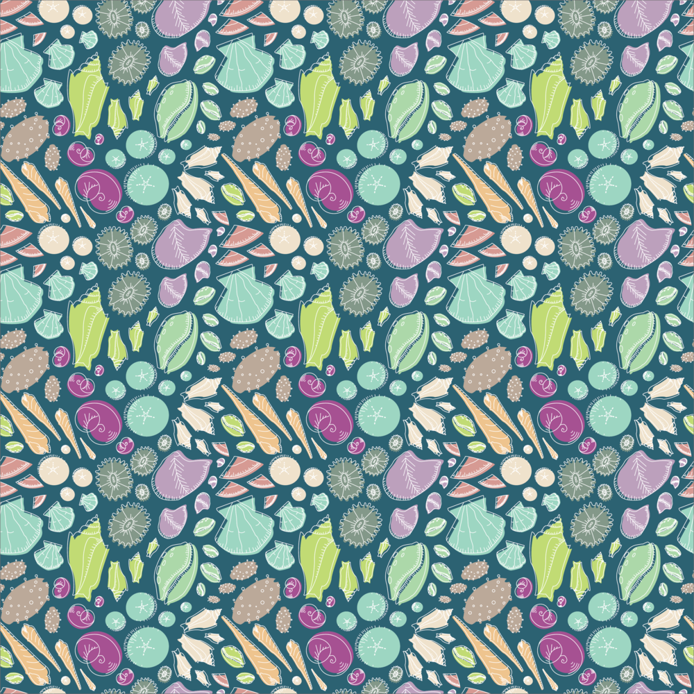 She Sells Sea Shells repeat pattern