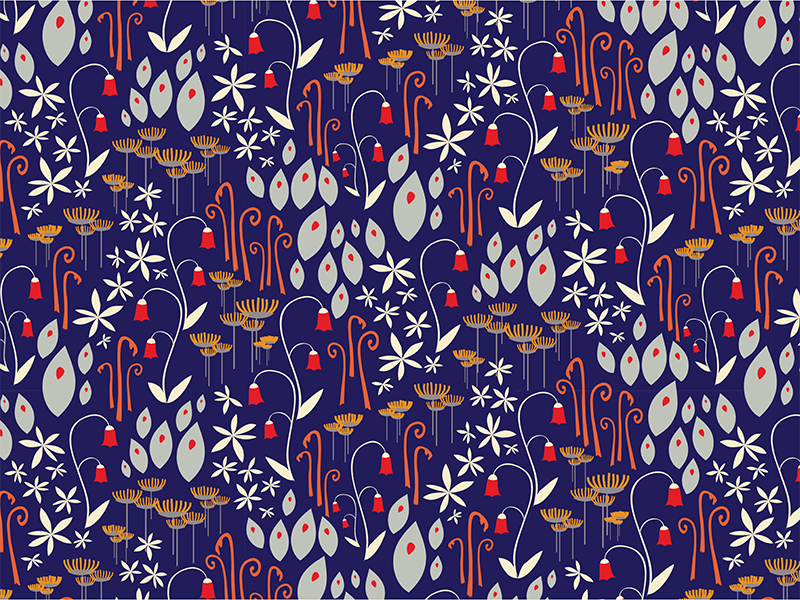 Bells and blues repeat pattern