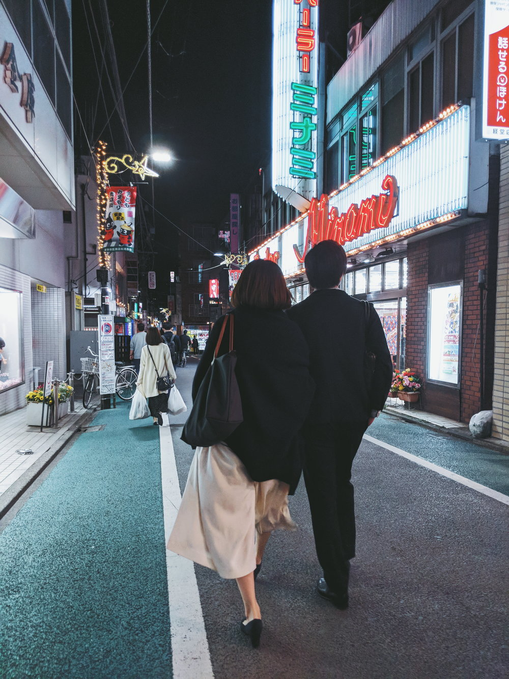Late night 恋人(koibito) lovers in Kyodo, Pixel 2