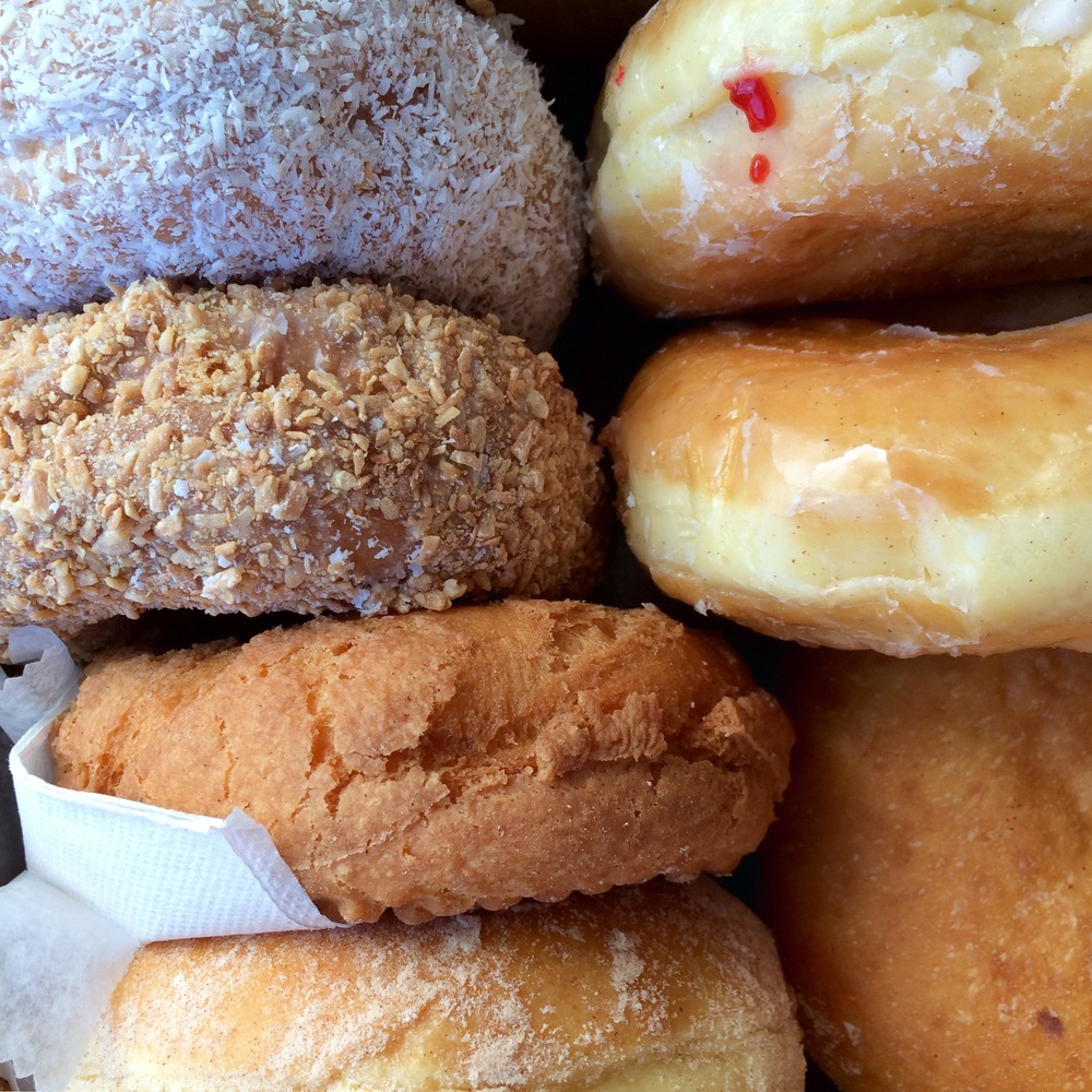 Same donuts from Linda's—aerial view!