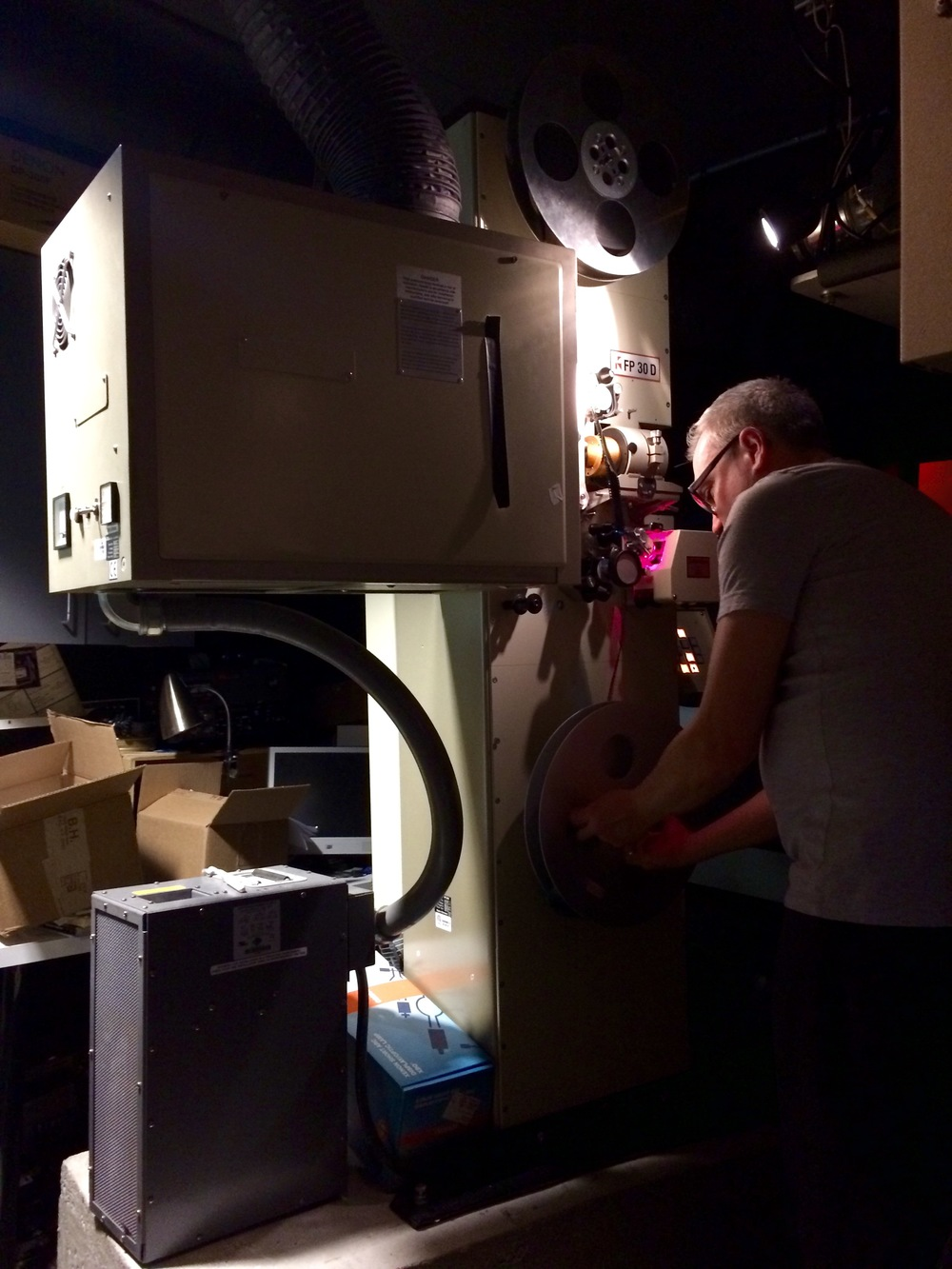 The master projectionist at work.