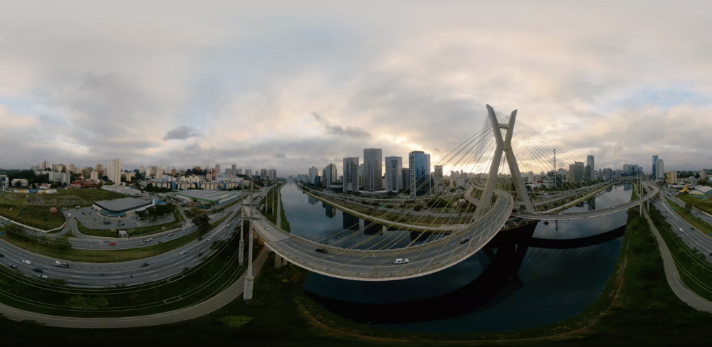 360° equirectangular footage from Brazil.  Photo Credit: Drone Dudes