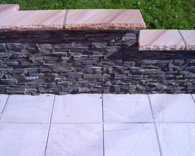 21. Hard Grey slate stacker stone for water features and decorative walls. 30mm thick