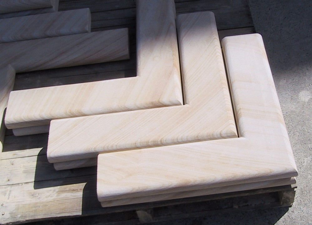 1. Sandstone wall capping cut to size
