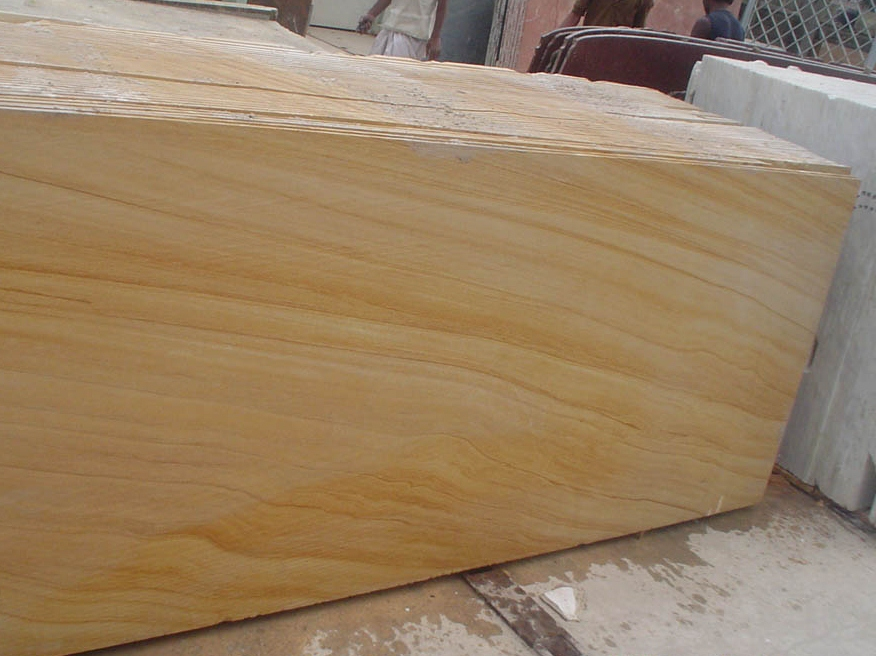 32. Wood grain sandstone slabs sizes about 2200x900mm