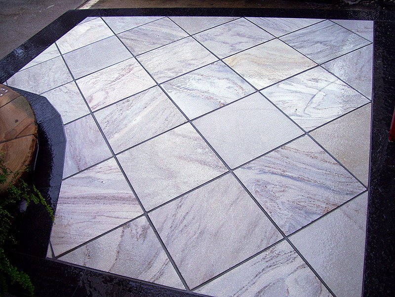 14. This crystallised quartzite floors can be sealed with darker shade sealer to achieve darker marble like finish