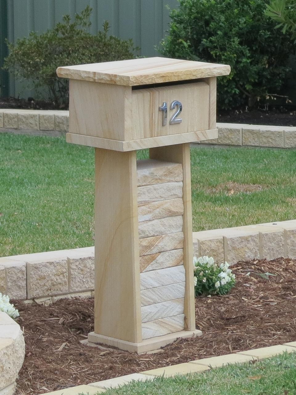 17. Sandstone letterbox 820 high 400x300 $700