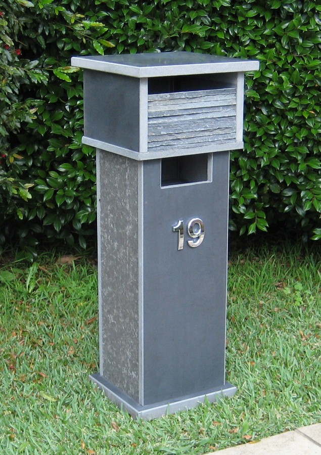 20. Bluestone solid, aluminium back door with 2 key lock 820 to 860cm high $560