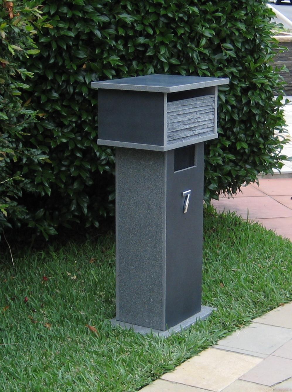 45. Bluestone solid, aluminium back door with 2 key lock 820cm high. Top part mesure 300mm x 400mm. $485