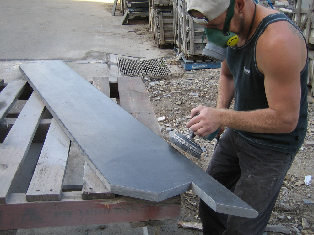 2. Mongolian Black stone cut and work out to customer description.