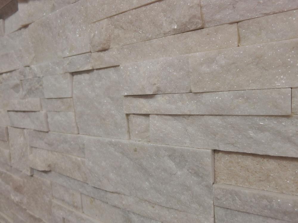 78. White Crystalized quartzite interlocking stacker Price start from $80 per m2