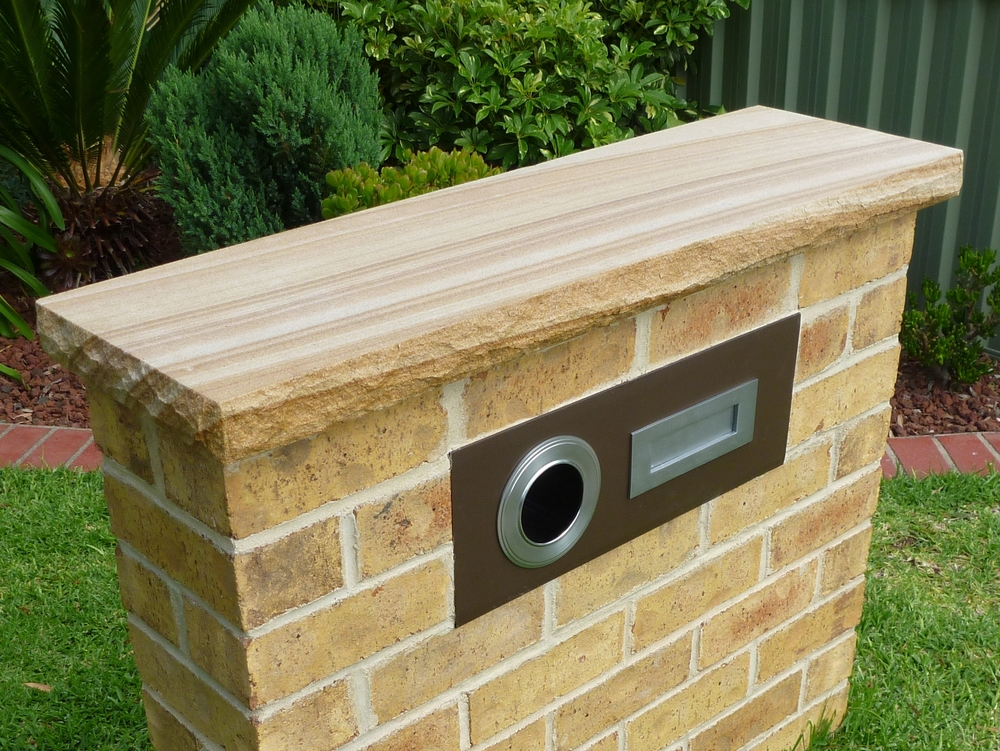 5. Sandstone wall capping 40mm thick for walls and piers
