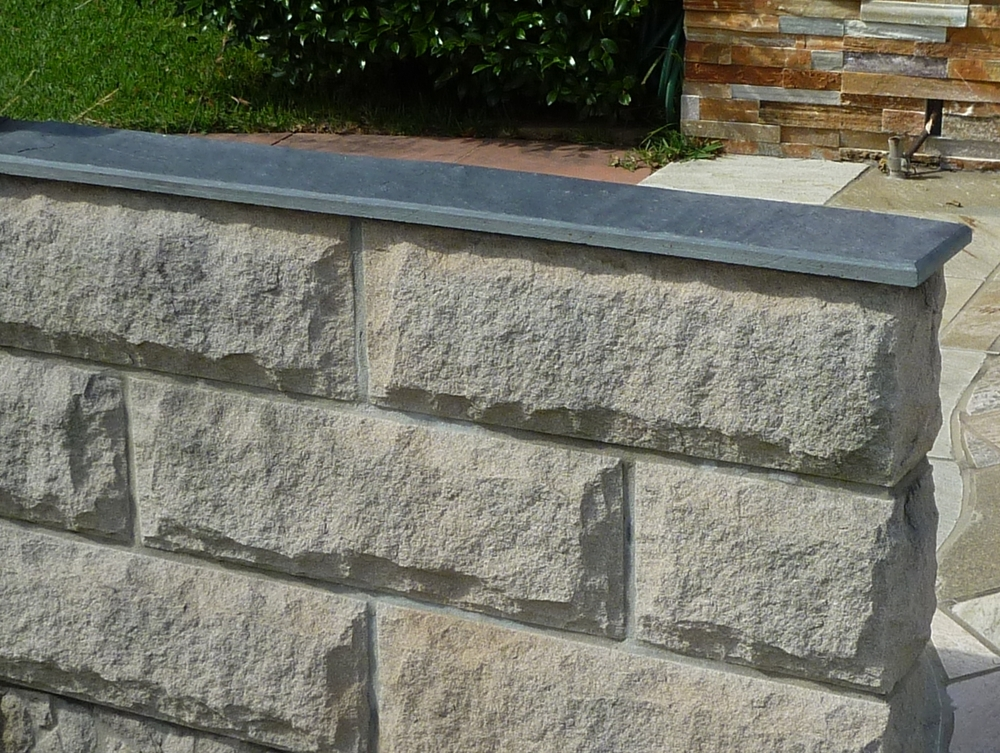 18. Chinese split stone capping for wall