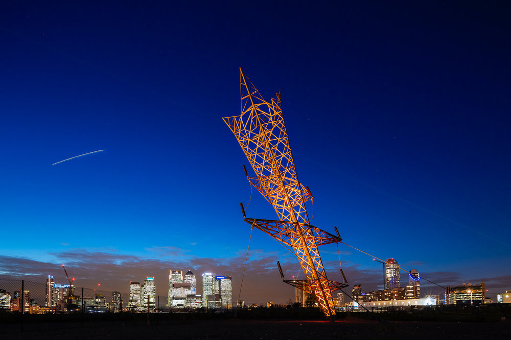 The Pylon (Alex Chinneck). North Greenwich. London