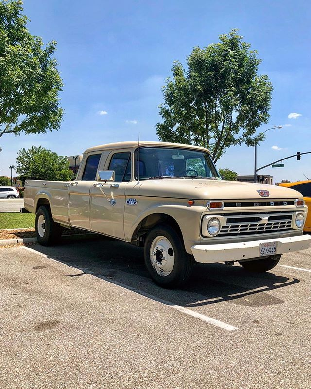 So cool!!! Rare 60's 4door F350 spotted at river walk. Who's is it? @bumpside_beaters