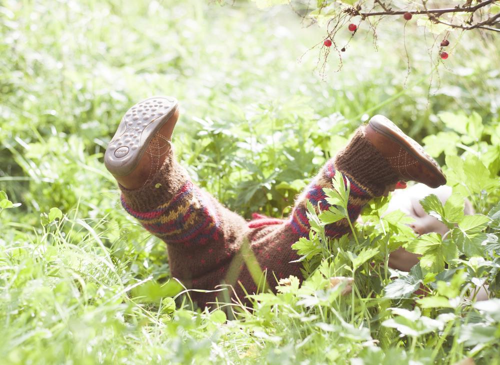 Koftebukse er god og varm - og rask strikk. Inspirasjonen ble funnet på hyttetur, så få ting passer vel bedre?