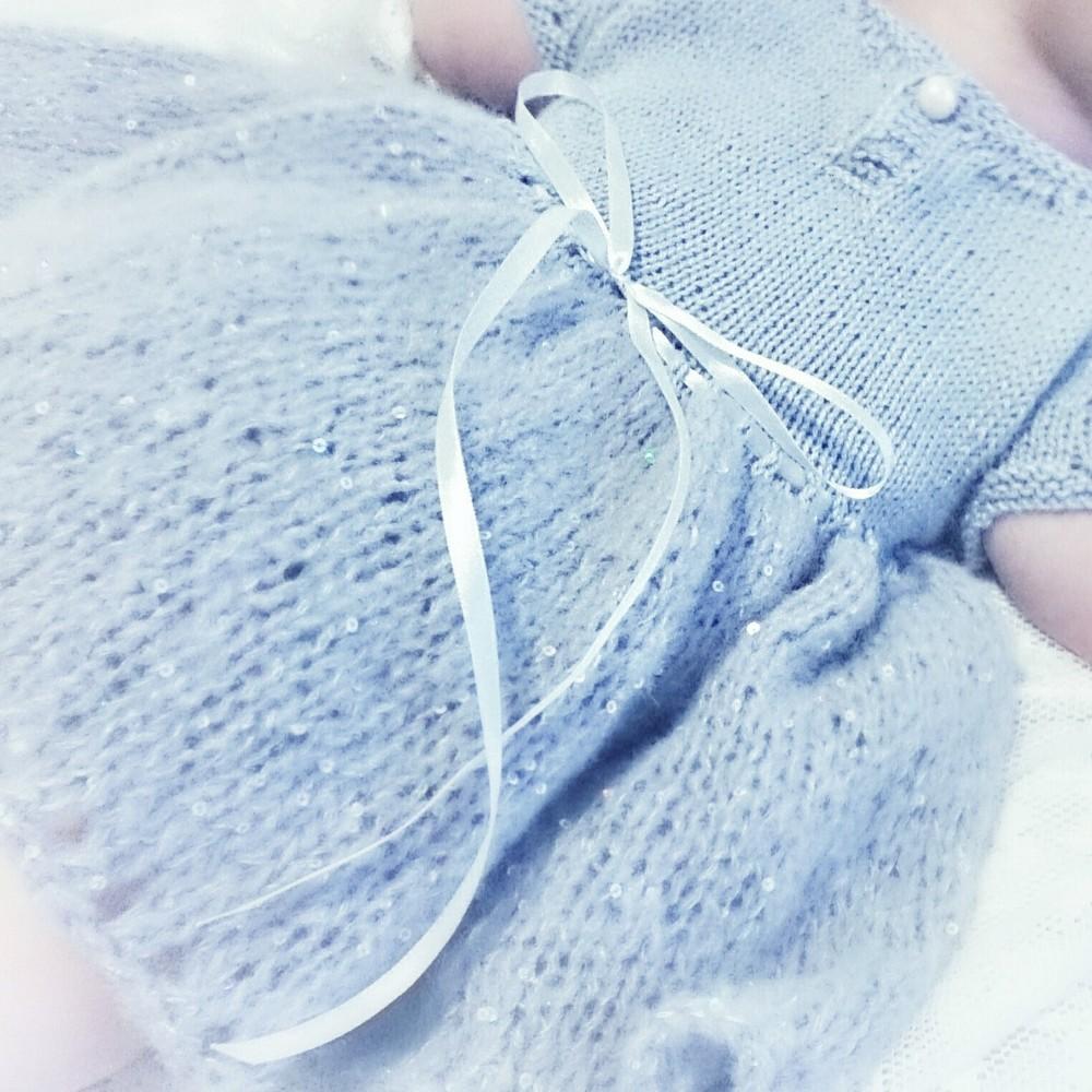 Hva med en liten vinterprinsesse? Blå kjole til Frostfansene!