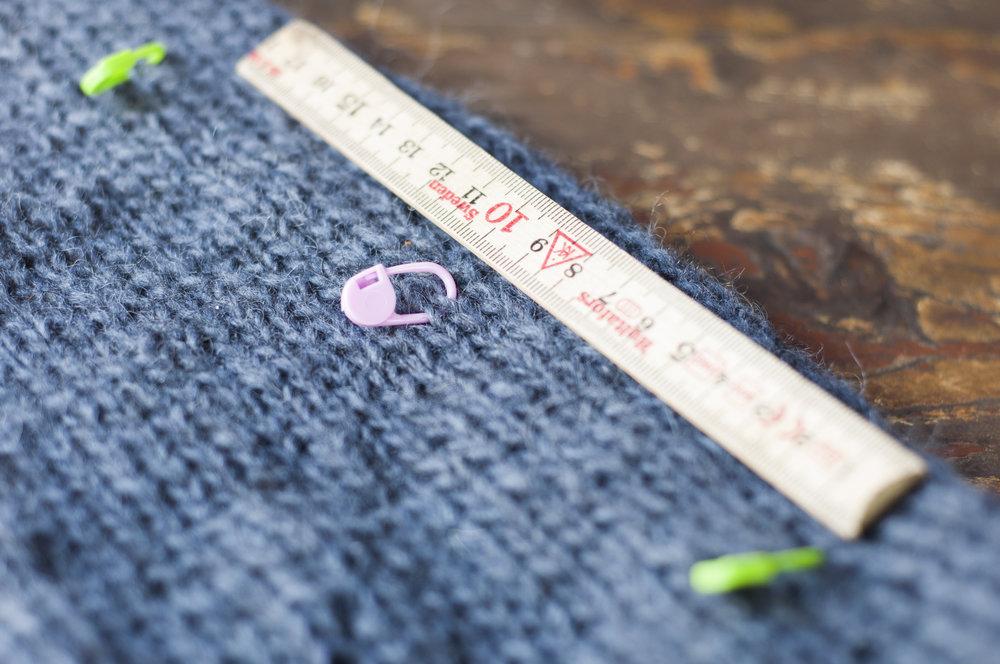 Husk å måle hengende når det er store plagg ;)