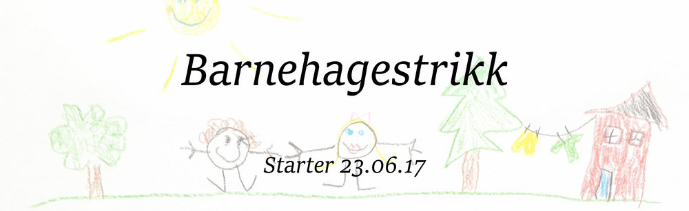 Følg med i barnehagestrikkegruppa på facebook for inspirasjon og tips og idèer!