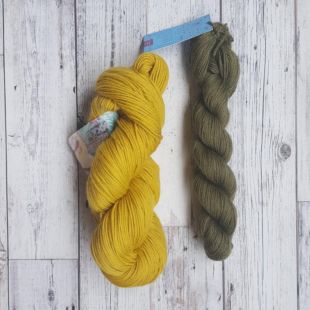Fra Projo, det gule skal bli tights og den grønne var bare fin 😉