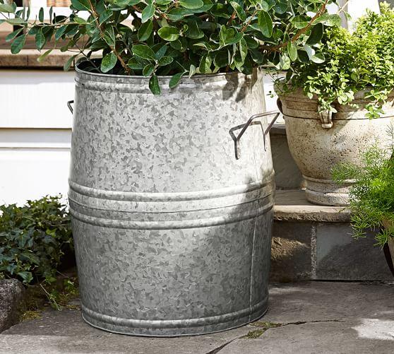 Pottery Barn: Galvanized Metal Planter