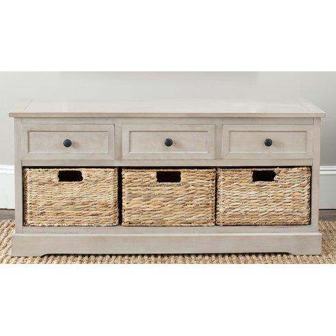 Wayfair: Beachcrest Home McKinley Wood Storage Bench