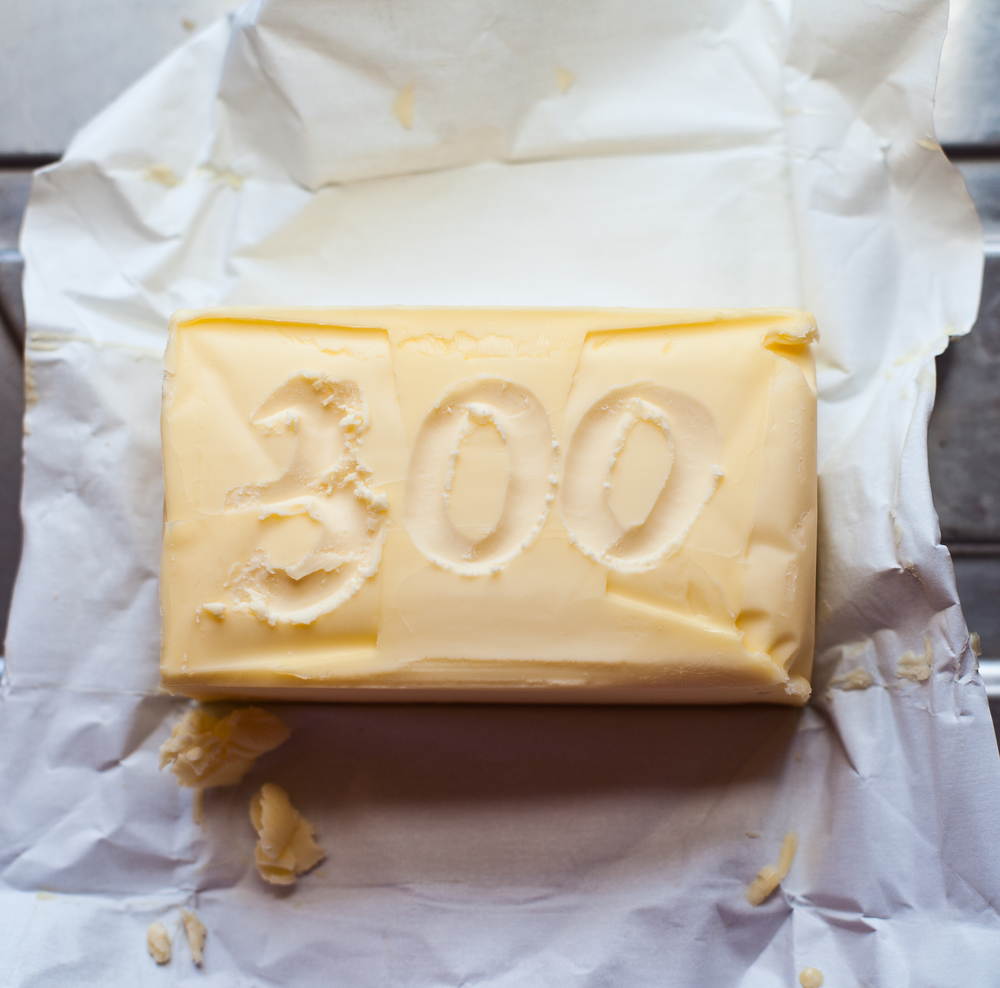 300g Butter - take out of the fridge to get it to room temperature!