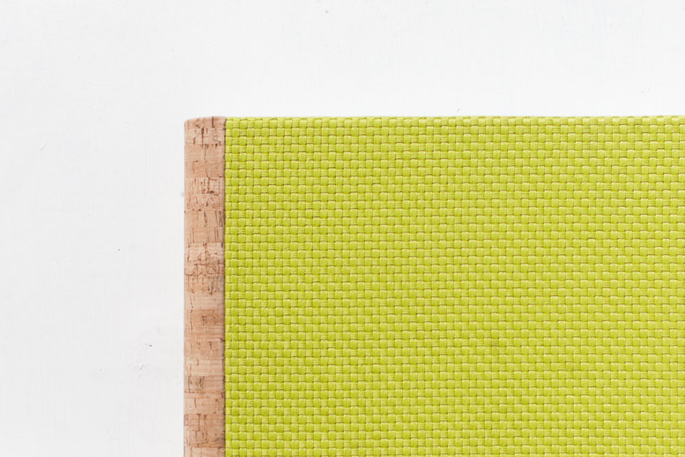 woven cover - colour: lime (a variety of colours available)