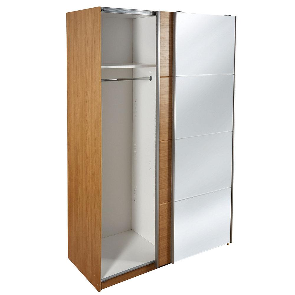 Kendal Oak effect 2 door Mirror wardrobe