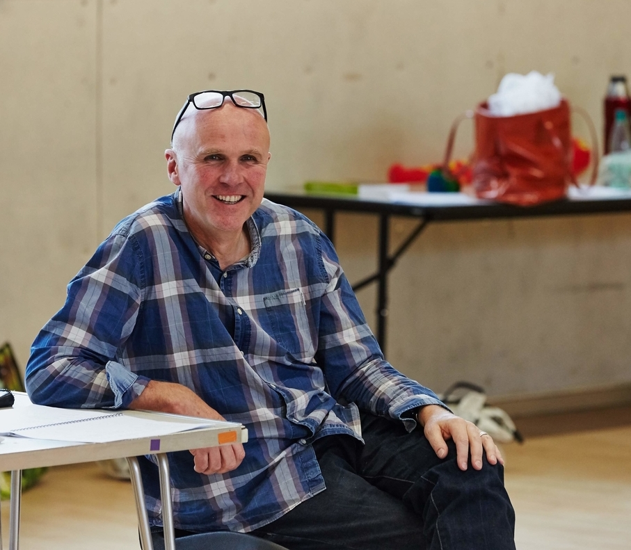 Tim Crouch in rehearsal for Adler & Gibb **** Time Out                        **** britishtheatre.com **** The Independent           **** WhatsOnStage **** Herald Scotland             **** The Arts Desk **** The Stage                      **** Fest Mag  W: adlerandgibb.com / T: @adlerandgibb / F: AdlerandGibb