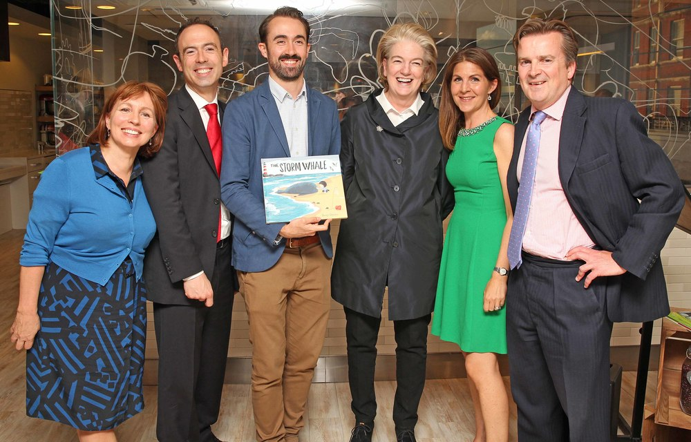 From left: Evening Standard editor Sarah Sands, judge James Ashton, prize winner Benji Davies, judge Marjorie Scardino, judge Viveka Alvestrand and Rupert Thomas, judge and marketing director of prize sponsor Waitrose