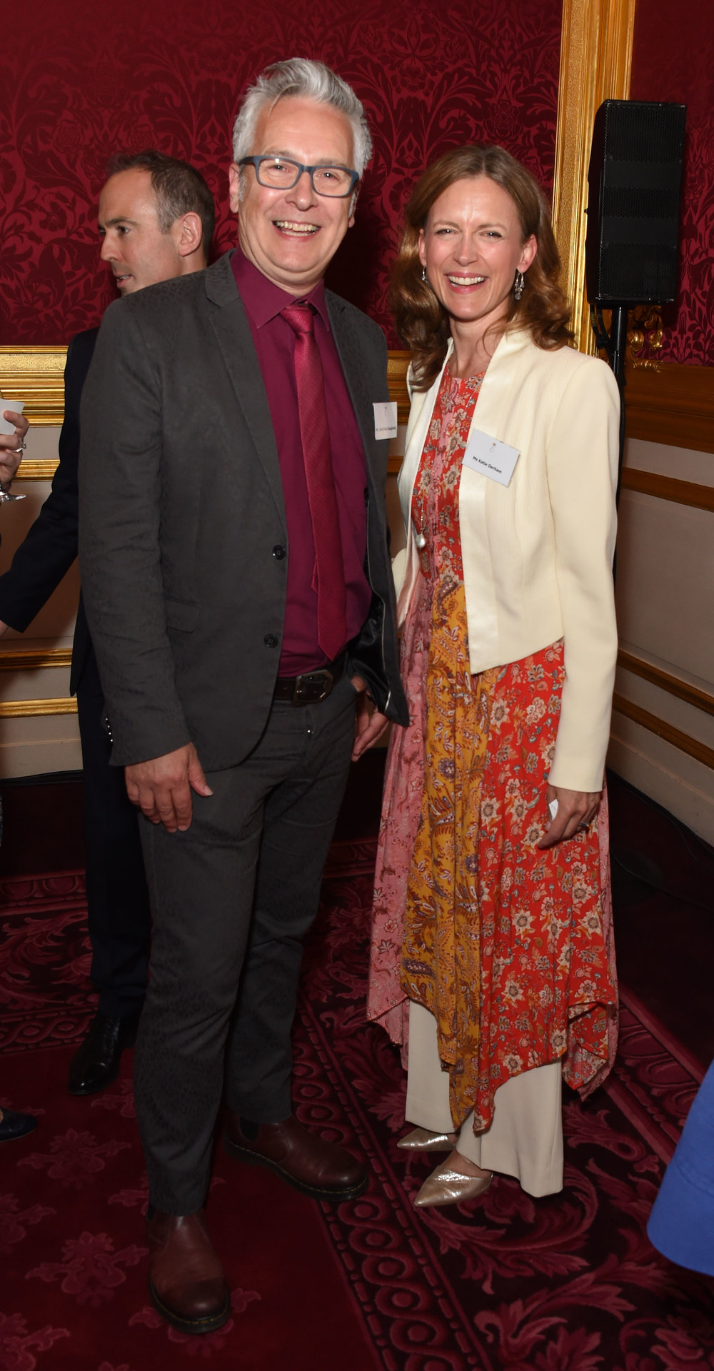 Oscar's Book Prize 2018 winner John Dougherty with prize judge and BBC presenter Katie Derham. Image: Dave Benett