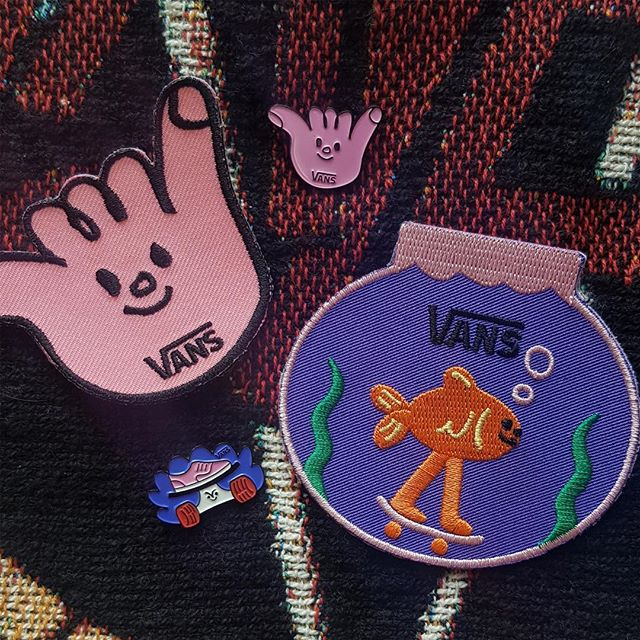 @vans_europe are opening a new shop in Dublin this Saturday and to celebrate I've made some pins and patches with @beachlondon to give out on the day, come down to the Jervis centre 12-5 and get radical.