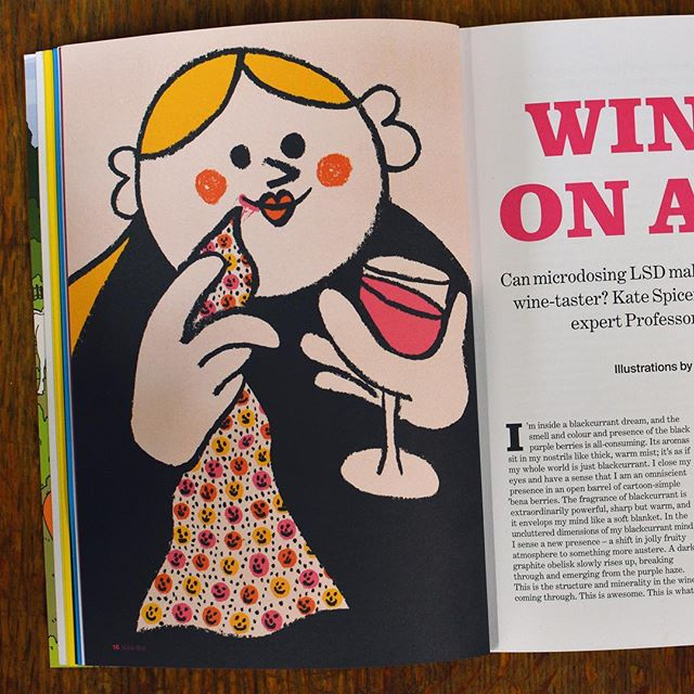 In print in @noblerotmag this month. Can microdosing LSD make you a more perceptive wine-taster? By @spicerlife Thanks @rachelcdalton.