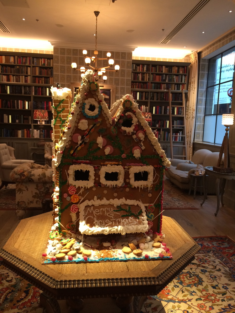 THE most Stunning gingerbread house I have ever seen AND in the most wonderful setting
