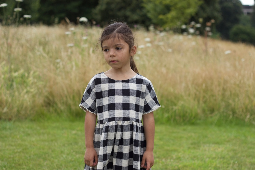 black and white children's dress