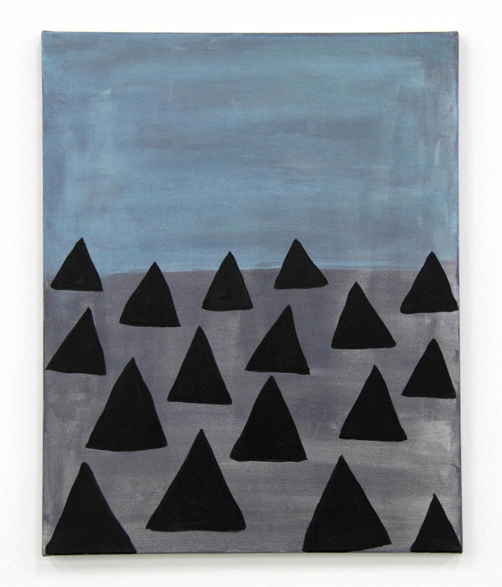 Familiars by Claire de Lune 2016, acrylic on canvas, 40 x 50 cm
