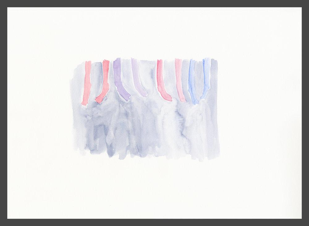 Kiss Kiss by Claire de Lune 2016, watercolour on paper, 31 x 42 cm