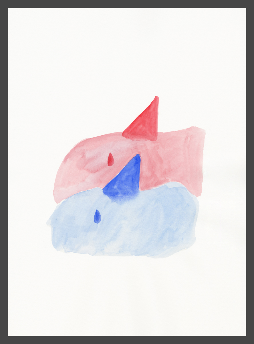 I want to show you a dream I had by Claire de Lune 2016, watercolour on paper, 31 x 42 cm