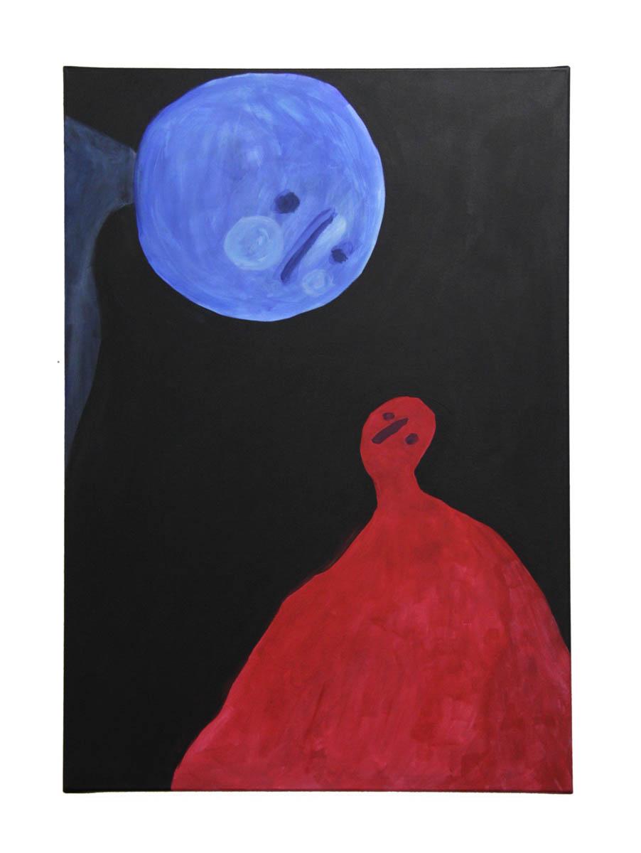 Romance by Claire de Lune 2016, acrylic on canvas, 70 x 100 cm