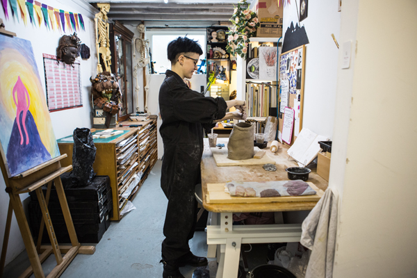 claire de lune artist ceramics painting studio