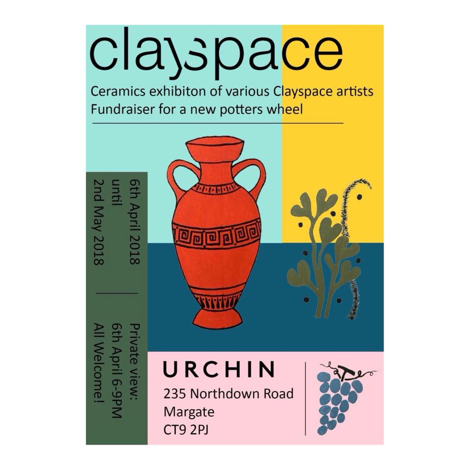 clayspace urchin wines margate fundraiser