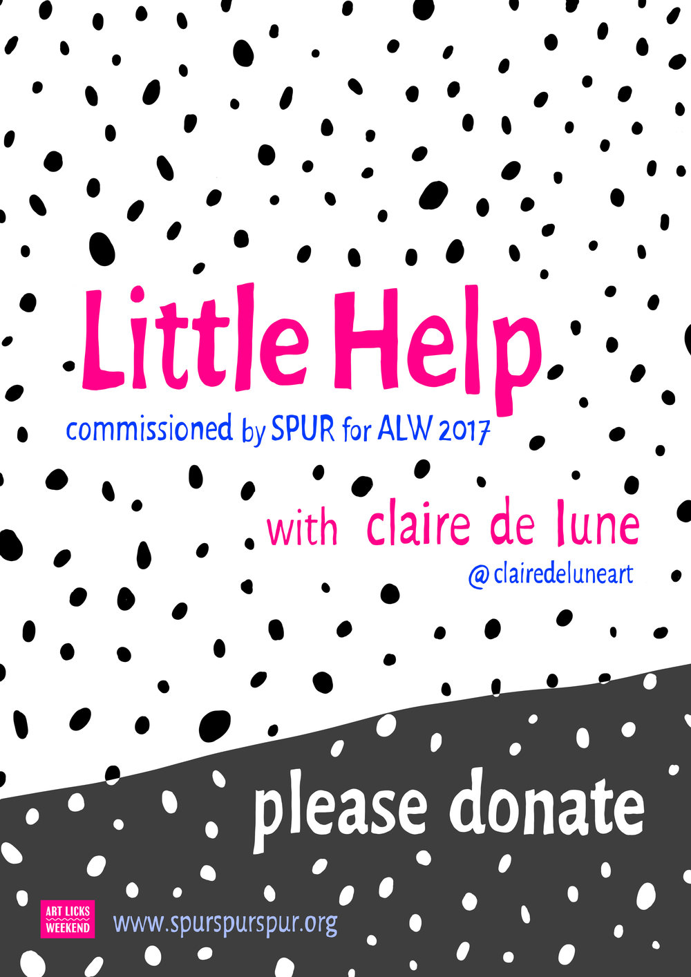 Little Help / SPUR art commission ceramic and fundraiser poster
