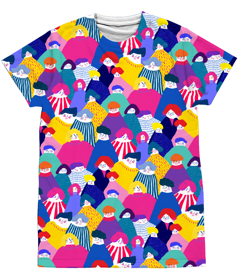 Claire De Lune Carnival All Over Print Tee Shirt